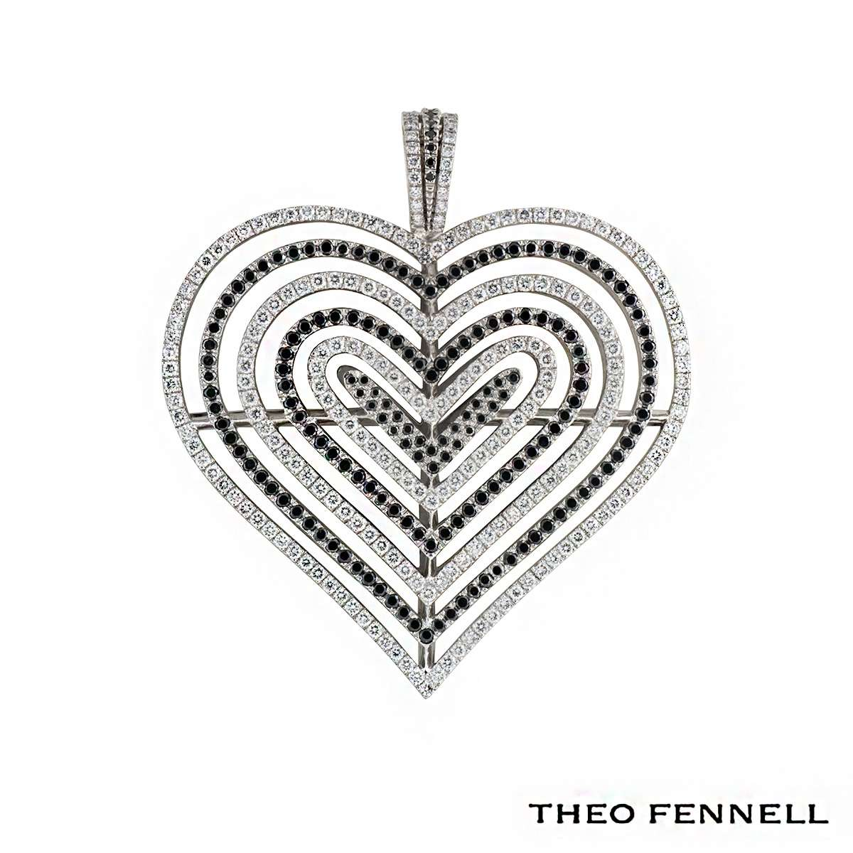 Theo Fennell 18k White Gold Diamond Pendant 2.62ct G/VS